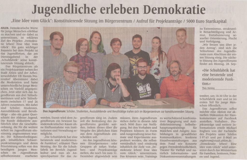 Quelle: Ahlener Zeitung, 18. Sep. 2015